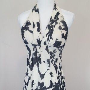 White House Black Market Halter Dress Sz 0